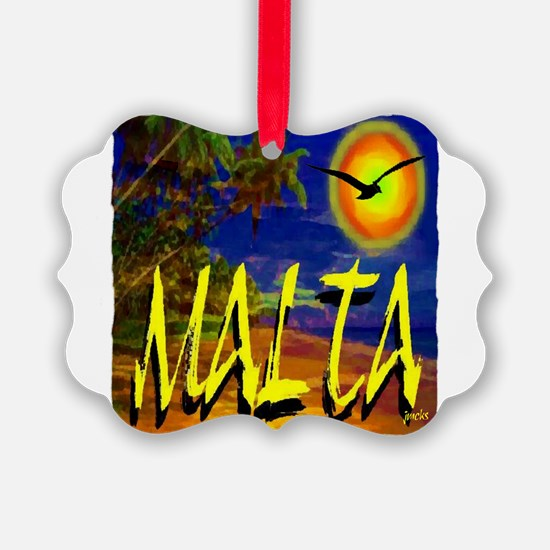 malta illustration artwork Ornament
