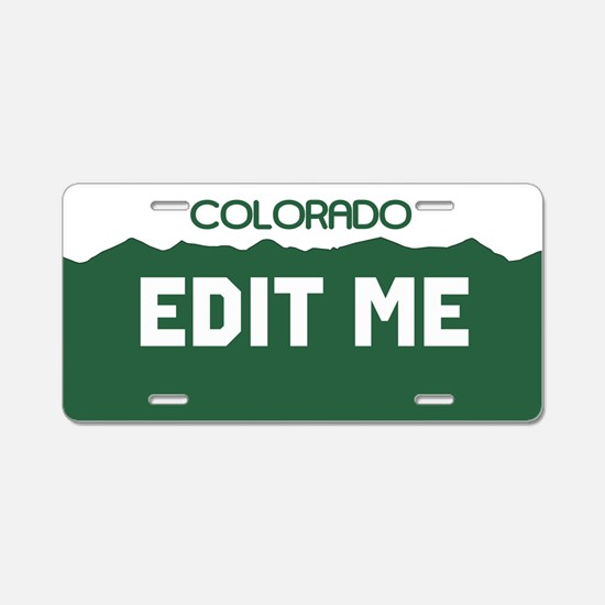Colorado green mountains license plate