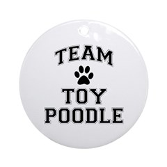 Team Toy Poodle Ornament (Round)