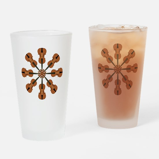 Circle of Violins Drinking Glass