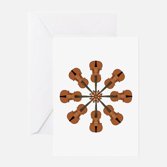 Circle of Violins Greeting Card