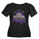 Trucker Paige Women's Plus Size Scoop Neck Dark T-