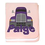 Trucker Paige baby blanket