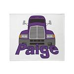 Trucker Paige Throw Blanket