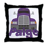 Trucker Paige Throw Pillow