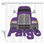Trucker Paige Shower Curtain