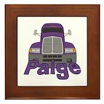 Trucker Paige Framed Tile
