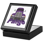 Trucker Paige Keepsake Box