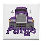 Trucker Paige Tile Coaster
