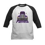 Trucker Pamela Kids Baseball Jersey