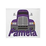 Trucker Pamela Throw Blanket