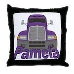 Trucker Pamela Throw Pillow