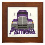 Trucker Pamela Framed Tile