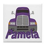 Trucker Pamela Tile Coaster