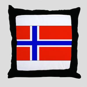 Norway Norwegian Blank Flag Throw Pillow