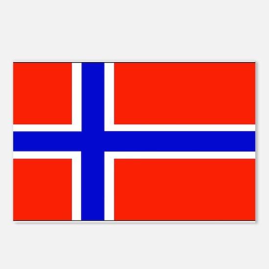 Norway Norwegian Blank Flag Postcards (Package of