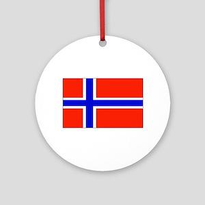 Norway Norwegian Blank Flag Christmas Ornament