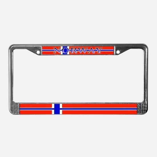 Norway Norwegian Blank Flag License Plate Frame