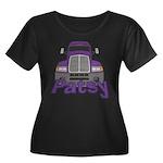 Trucker Patsy Women's Plus Size Scoop Neck Dark T-