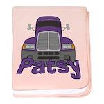 Trucker Patsy baby blanket