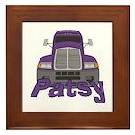 Trucker Patsy Framed Tile