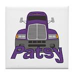 Trucker Patsy Tile Coaster