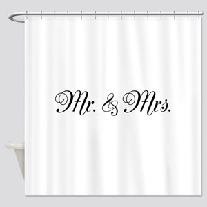 Mr Mrs Shower Curtain