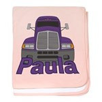 Trucker Paula baby blanket