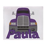 Trucker Paula Throw Blanket