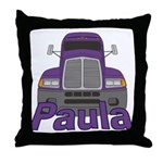 Trucker Paula Throw Pillow
