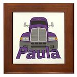 Trucker Paula Framed Tile