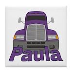 Trucker Paula Tile Coaster