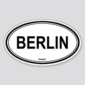 Berlin, Germany euro Oval Sticker