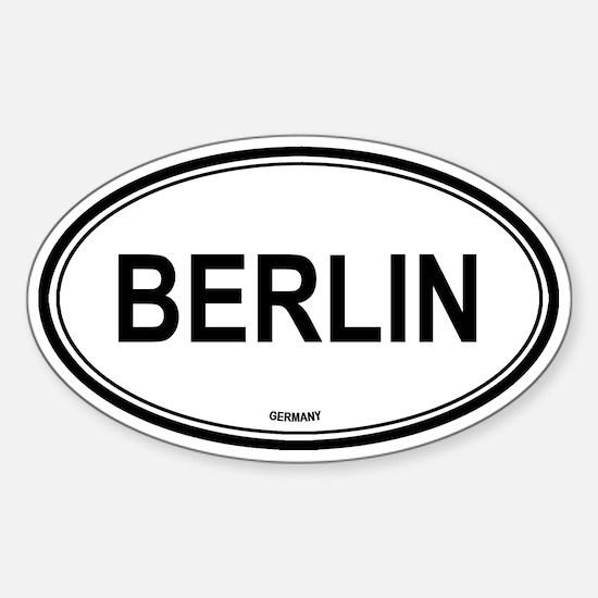 Berlin, Germany euro Oval Decal