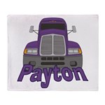 Trucker Payton Throw Blanket