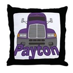 Trucker Payton Throw Pillow