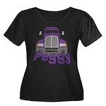 Trucker Peggy Women's Plus Size Scoop Neck Dark T-