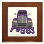 Trucker Peggy Framed Tile