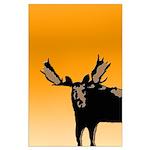 Sunset Moose Large Poster