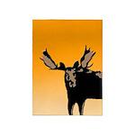 Sunset Moose 5'x7'Area Rug