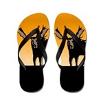 Sunset Moose Flip Flops