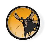 Sunset Moose Wall Clock