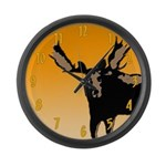 Sunset Moose Large Wall Clock