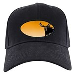 Sunset Moose Black Cap with Patch