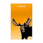 Sunset Moose Sticker (Rectangle 10 pk)