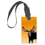 Sunset Moose Large Luggage Tag