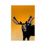 Sunset Moose Rectangle Magnet (100 pack)