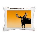 Sunset Moose Rectangular Canvas Pillow