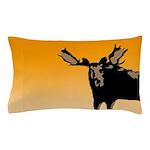 Sunset Moose Pillow Case