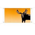 Sunset Moose Banner